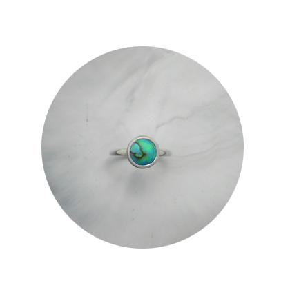 -SOLD-Sterling Silver Ring. 8 mm B+ Grade Brereton Blue Pearl.